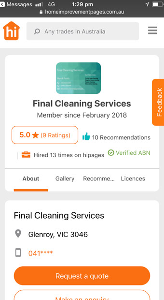 Cleaning Review
